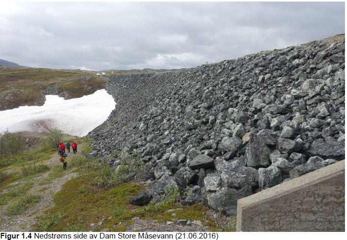 Dam Store Måsevann - Nedstrøms 2016